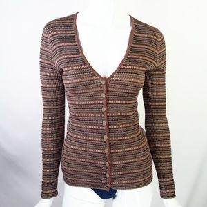 Missoni Long Sleeve Metallic Merino Knit Sweater